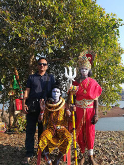 Jawhar tribals with a tourist